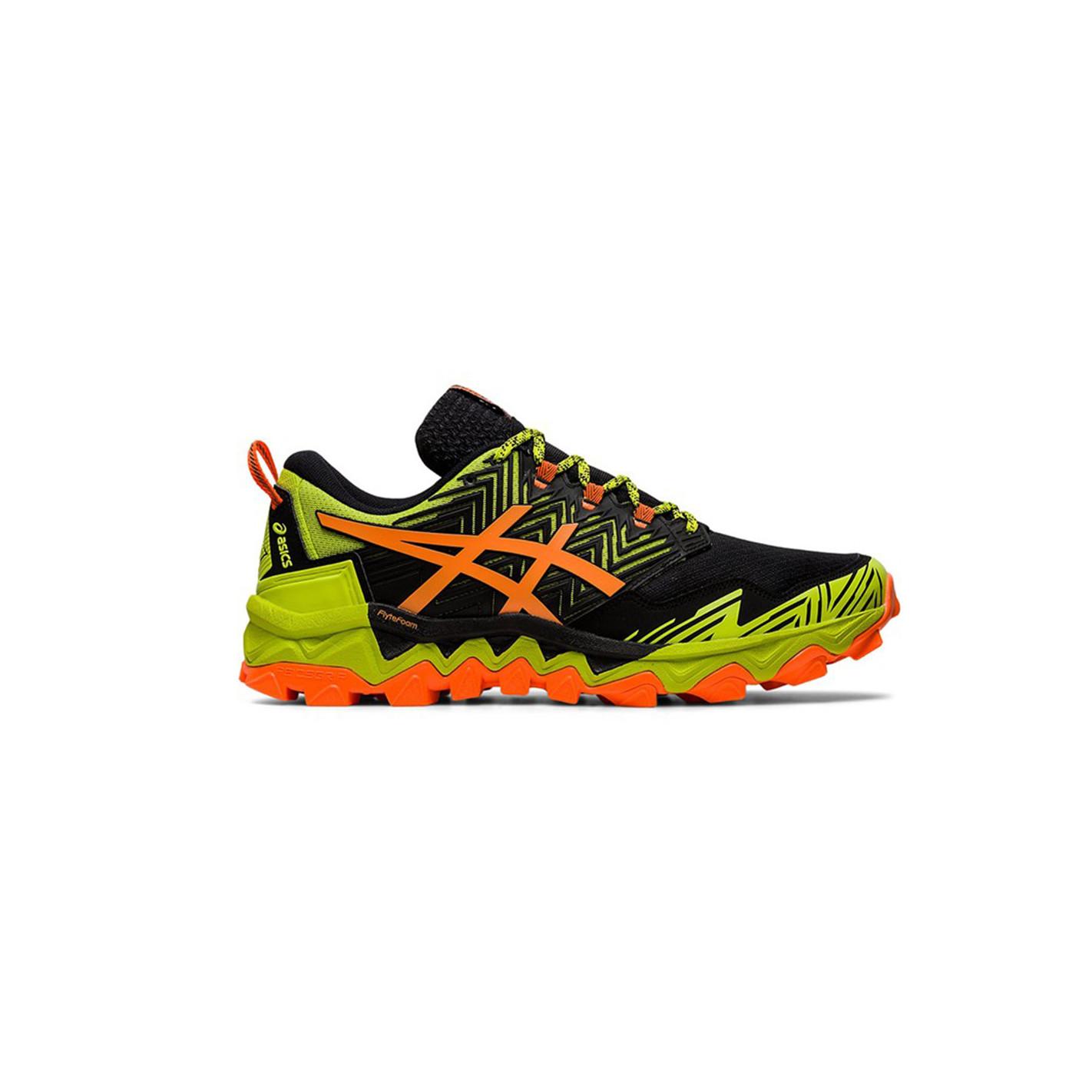 Chaussures Running ASICS Homme GEL-FUJITRABUCO 8 Jaune / Noir ...