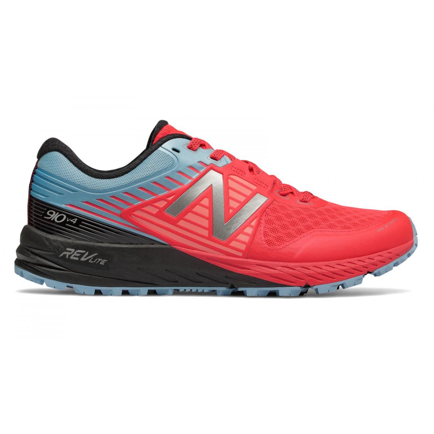 Chaussures Running NEW BALANCE Femme Trail 910 PB4 Bleu / Rose PE ...