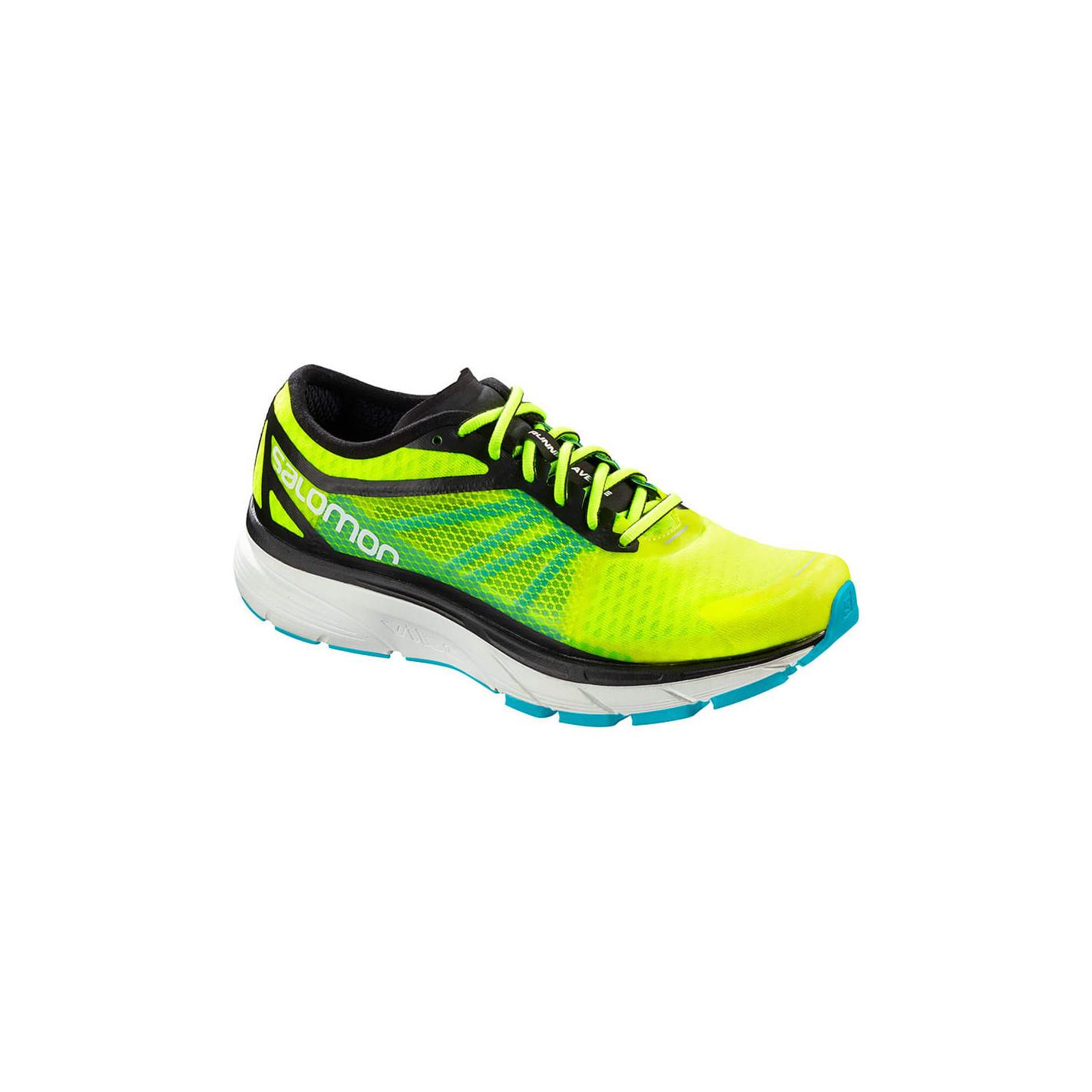 Chaussures Running SALOMON Homme SONIC RA Jaune Verte AH 2018