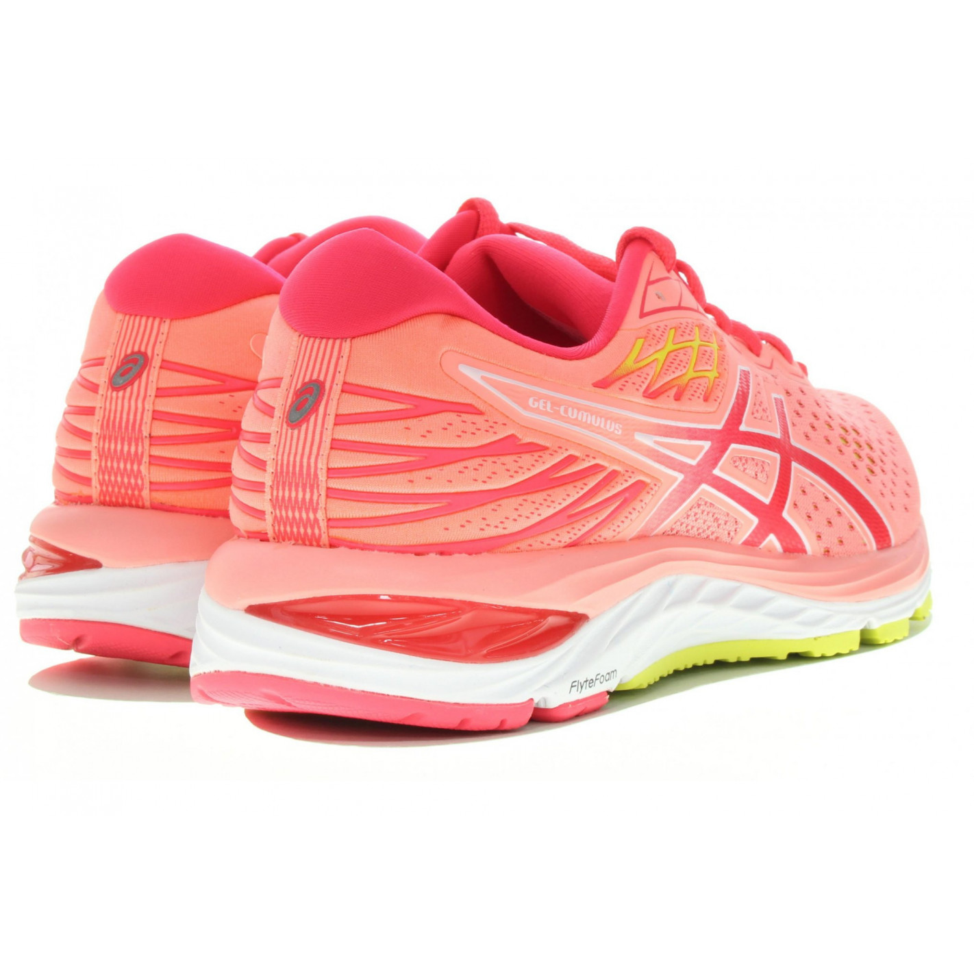 Chaussures Running ASICS Femme GEL-CUMULUS 21 SHINE Corail/Rose ...