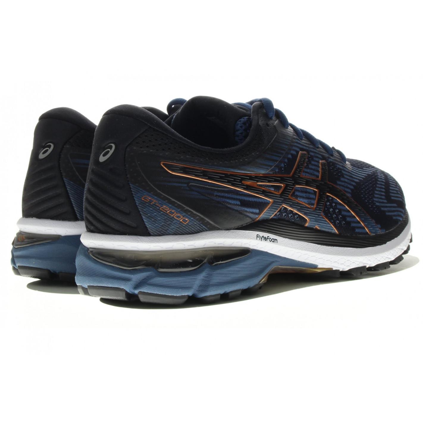 Chaussures Running ASICS Homme GT-2000 Noir / Bleu / Or PE 2020 ...