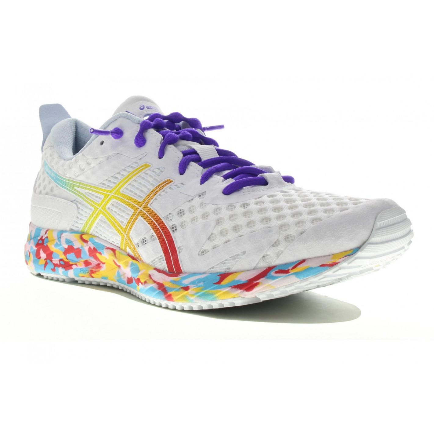 Chaussures Running ASICS Femme GEL-NOOSA FF Noir / Rose / Fluo AH ...