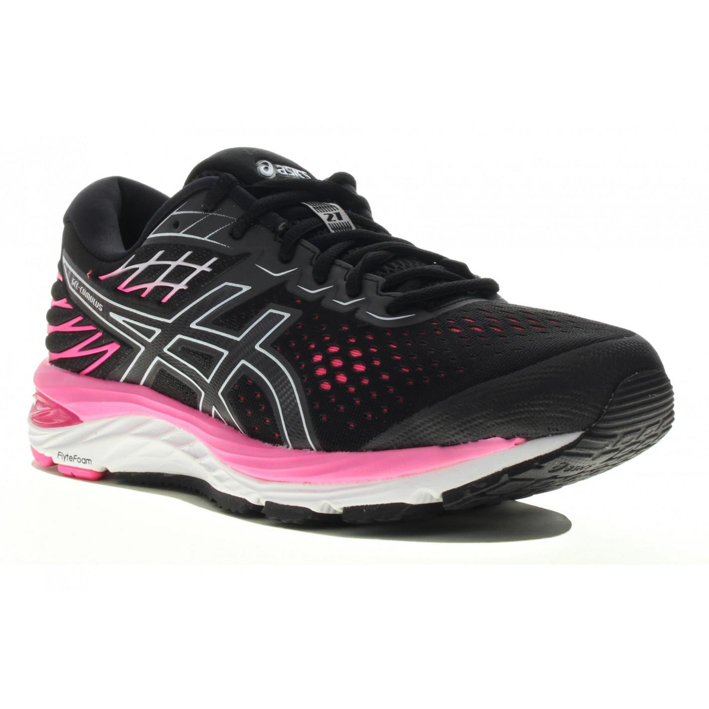 Chaussures Running ASICS Femme GEL-CUMULUS 21 Noir / Rose PE 2020 ...